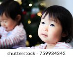 cute child  christmas image | Shutterstock . vector #759934342