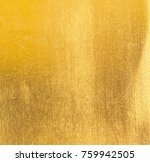 shiny yellow leaf gold foil... | Shutterstock . vector #759942505