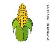 isolated corn design | Shutterstock .eps vector #759948796