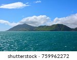 amazing view from deck of ferry ... | Shutterstock . vector #759962272