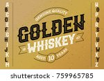 vintage style font with sample... | Shutterstock .eps vector #759965785