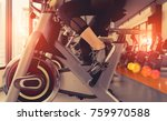 exercise bike cardio workout at ... | Shutterstock . vector #759970588