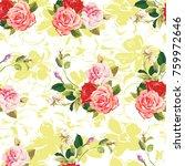 Seamless Floral Pattern Three...
