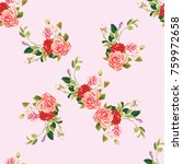 Seamless Floral Pattern Three...
