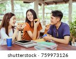 students asian group together... | Shutterstock . vector #759973126