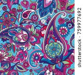 seamless pattern based on... | Shutterstock .eps vector #759977692