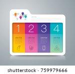 folder infographics design... | Shutterstock .eps vector #759979666