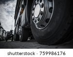 maintaining semi truck tires... | Shutterstock . vector #759986176