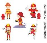 fire ranger fire fighter worker ...   Shutterstock .eps vector #759988792