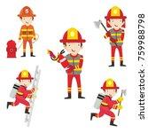 fire ranger fire fighter worker ...   Shutterstock .eps vector #759988798