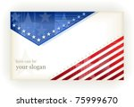 us american flag themed... | Shutterstock .eps vector #75999670