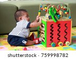 thai boy 6 months old is... | Shutterstock . vector #759998782