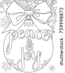 peace and joy black and white... | Shutterstock .eps vector #759998872