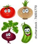 funny cartoon cute vegetables   ...
