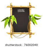 bamboo frame with tropical... | Shutterstock .eps vector #76002040