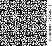 vector lace texture  curly line ... | Shutterstock .eps vector #760026745