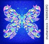 Embroidered Colorful Butterfly...