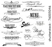 illustration of set of vintage design elements for text - stock vector
