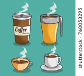 coffee icons set | Shutterstock .eps vector #760053295
