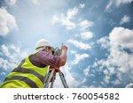 surveyor equipment. surveyor s... | Shutterstock . vector #760054582