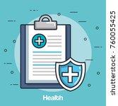 health medicine set icons | Shutterstock .eps vector #760055425