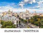 aerial view  in madrid in a... | Shutterstock . vector #760059616