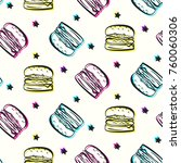 bright party pattern with... | Shutterstock .eps vector #760060306