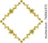 gold vintage frame isolated on... | Shutterstock .eps vector #760061572
