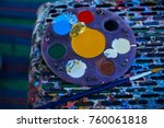 circular painting palette full... | Shutterstock . vector #760061818