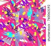 abstract seamless vector... | Shutterstock .eps vector #760063192