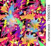 abstract seamless vector... | Shutterstock .eps vector #760063216