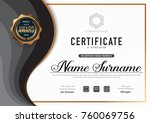 certificate template luxury and ... | Shutterstock .eps vector #760069756