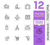 travel collection. editable... | Shutterstock .eps vector #760071946