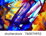 abstract watercolor texture.... | Shutterstock . vector #760074952