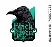 Black Raven Logo With Hand...