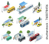 city public transport isometric ... | Shutterstock .eps vector #760078456