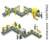 production line isometric 3d... | Shutterstock .eps vector #760078462