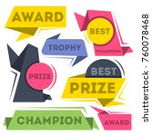 award ribbon banners collection ... | Shutterstock .eps vector #760078468