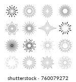 set of isolated sunburst rays... | Shutterstock .eps vector #760079272