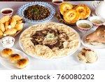national kazakh dishes ... | Shutterstock . vector #760080202