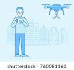 vector illustration in flat... | Shutterstock .eps vector #760081162