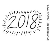 2018 hand draw icon | Shutterstock .eps vector #760087996