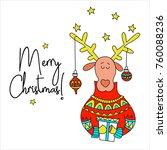 merry christmas  vector... | Shutterstock .eps vector #760088236