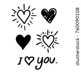 heart hand draw icon | Shutterstock .eps vector #760090108