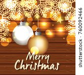 bright merry christmas card | Shutterstock .eps vector #760092466