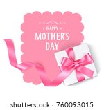 happy mothers day. vector... | Shutterstock .eps vector #760093015
