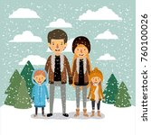winter people background with... | Shutterstock .eps vector #760100026
