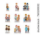 winter people colorful... | Shutterstock .eps vector #760100032
