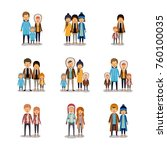 winter people colorful... | Shutterstock .eps vector #760100035