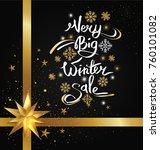 very big winter sale image... | Shutterstock .eps vector #760101082